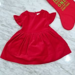 🌹Gymboree Red Velvet dress with lining